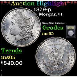 ***Auction Highlight*** 1879-p Morgan Dollar $1 Graded GEM Unc By USCG (fc)