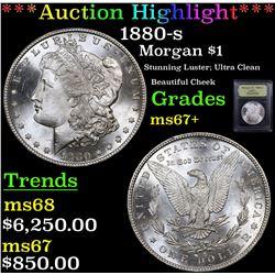***Auction Highlight*** 1880-s Morgan Dollar $1 Graded Gem++ Unc By USCG (fc)