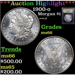 ***Auction Highlight*** 1900-o Morgan Dollar $1 Graded GEM+ Unc By USCG (fc)