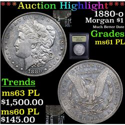 ***Auction Highlight*** 1880-o Morgan Dollar $1 Graded Unc+ PL By USCG (fc)