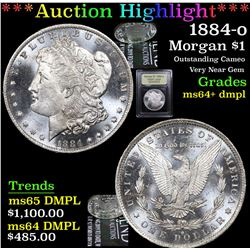 ***Auction Highlight*** 1884-o Morgan Dollar $1 Graded Choice Unc+ DMPL By USCG (fc)