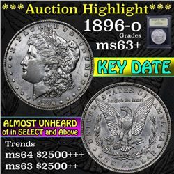 ***Auction Highlight*** 1896-o Morgan Dollar $1 Graded Select+ Unc By USCG (fc)