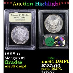 ***Auction Highlight*** 1898-o Morgan Dollar $1 Graded Choice Unc DMPL By USCG (fc)