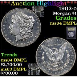 ***Auction Highlight*** 1902-o Morgan Dollar $1 Grades Choice Unc DMPL (fc)