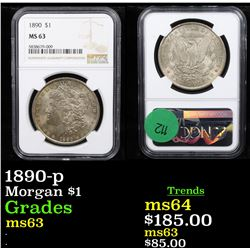1890-p Morgan Dollar $1 Graded ms63 By NGC