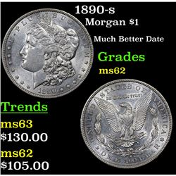 1890-s Morgan Dollar $1 Grades Select Unc