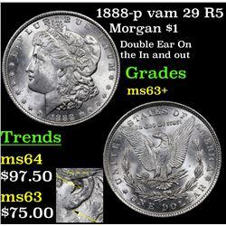 1888-p vam 29 R5 Morgan Dollar $1 Grades Select+ Unc