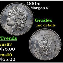 1881-s Morgan Dollar $1 Grades Unc Details