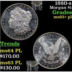 1880-s Morgan Dollar $1 Grades Select Unc+ PL