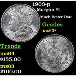 1903-p Morgan Dollar $1 Grades Select+ Unc