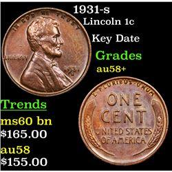 1931-s Lincoln Cent 1c Grades Choice AU/BU Slider+