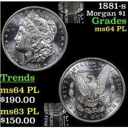 1881-s Morgan Dollar $1 Grades Choice Unc PL