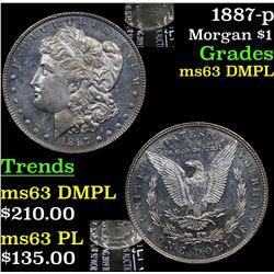 1887-p Morgan Dollar $1 Grades Select Unc DMPL