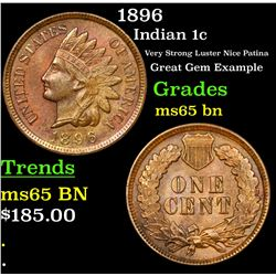 1896 Indian Cent 1c Grades GEM Unc BN