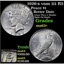 1926-s vam 1i1 R5 Peace Dollar $1 Grades Select+ Unc
