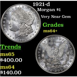 1921-d Morgan Dollar $1 Grades Choice+ Unc