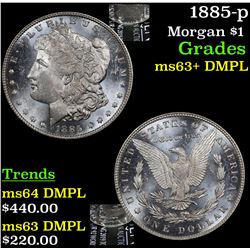 1885-p Morgan Dollar $1 Grades Select Unc+ DMPL