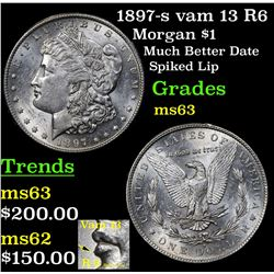 1897-s vam 13 R6 Morgan Dollar $1 Grades Select Unc