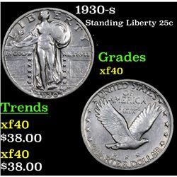 1930-s Standing Liberty Quarter 25c Grades xf