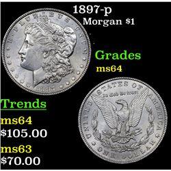 1897-p Morgan Dollar $1 Grades Choice Unc