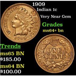 1909 Indian Cent 1c Grades Choice+ Unc BN