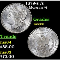 1879-s /s Morgan Dollar $1 Grades Select+ Unc
