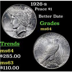 1926-s Peace Dollar $1 Grades Choice Unc
