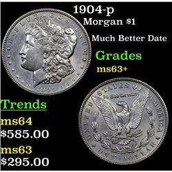 1904-p Morgan Dollar $1 Grades Select+ Unc