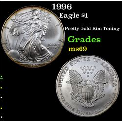1996 Silver Eagle Dollar $1 Grades ms69