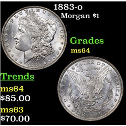 1883-o Morgan Dollar $1 Grades Choice Unc