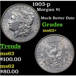 1903-p Morgan Dollar $1 Grades Select Unc