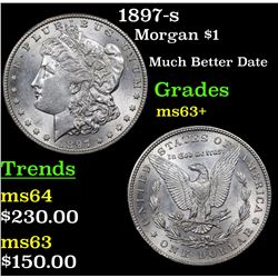 1897-s Morgan Dollar $1 Grades Select+ Unc