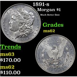 1891-s Morgan Dollar $1 Grades Select Unc