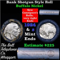 Buffalo Nickel Shotgun Roll in Old Bank Style 'Bell Telephone'  Wrapper 1924 & s Mint Ends