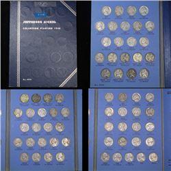 Complete Jefferson Nickel Book 1938-1961 65 Coins Grades