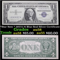 *Star Note * 1957A $1 Blue Seal Silver Certificate Grades Choice AU/BU Slider