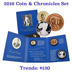 2016 Coin And Chronicle Set Ronald Reagan