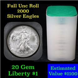 ***Auction Highlight*** Roll of 2000 Silver Eagle $1 20 coins (fc)