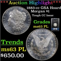 ***Auction Highlight*** NGC 1883-cc GSA Hoard Morgan Dollar $1 Graded ms63 pl By NGC (fc)