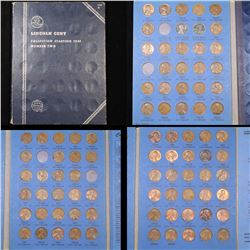 Near Complete Lincoln Cent Book 1941-1976 86 Coins Grades