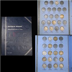 Partial Buffalo Nickel Book 1920-1938 19 Coins Grades