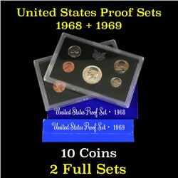 1968 & 1969 United States Proof Set 10 coins