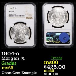 NGC 1904-o Morgan Dollar $1 Graded ms65 By NGC