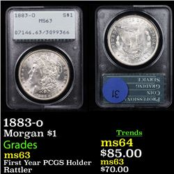 PCGS 1883-o Morgan Dollar $1 Graded ms63 By PCGS