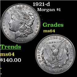 1921-d Morgan Dollar $1 Grades Choice Unc