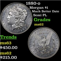 1880-o Morgan Dollar $1 Grades Select Unc
