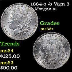 1884-o /o Vam 3 Morgan Dollar $1 Grades Select+ Unc