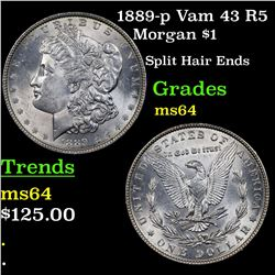 1889-p Vam 43 R5 Morgan Dollar $1 Grades Choice Unc