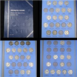 Near Complete Jefferson Nickel Book 1938-1961 44 Coins