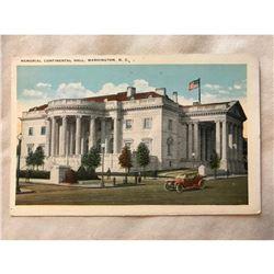 1920's Original Postcard, DAR, Memorial Continental Hall, Washington D.C.